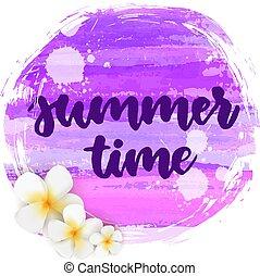 Summer time round background