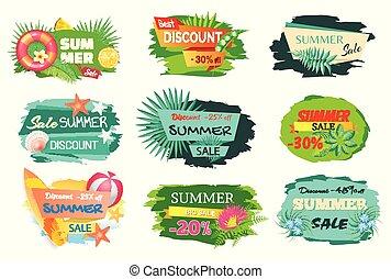 Summer Time Sale 20 Percent Vector Illustration