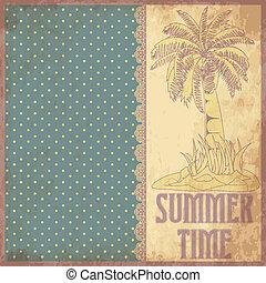 Summer time scrapbooking background