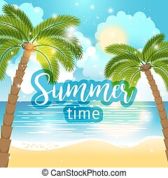 Summer time sea view background