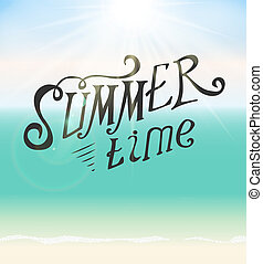 Summer Time Seaside  Background Illustration