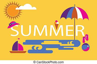 summer time, seasonal vacation at the beach