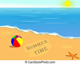 Summer holiday background, beautiful tropical sunny beach