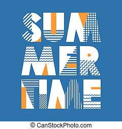 Summer Time T-shirt Typography