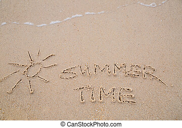 Summer Time  text wrote for summer holiday concept