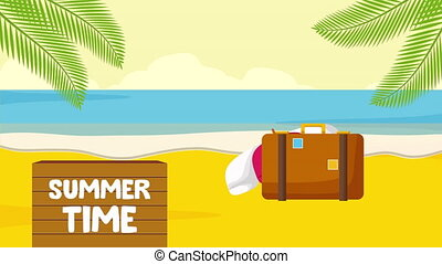 summer time vacations ,4k video animation