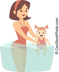 Summer time vector illustration. - Summer time in beach and...