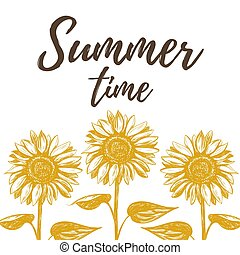 Summer time vector illustration