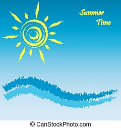 Summer time, vector