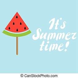 Summer Time - vector summer time watermelon