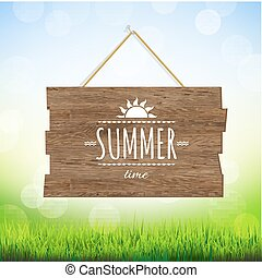 Summer Time Wood Board