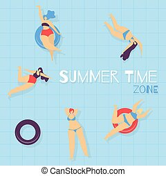 Summer Time Zone Swimming Pool