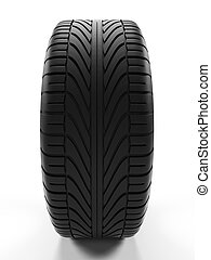3d rendered illustration of a tire
