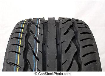 Brand new modern summer car tire detail