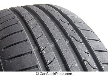 Sport summer tire, over white