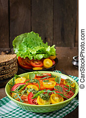 Summer tomato salad with basil