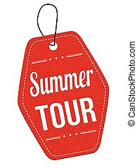 Summer tour label or price tag - Summer tour red leather...