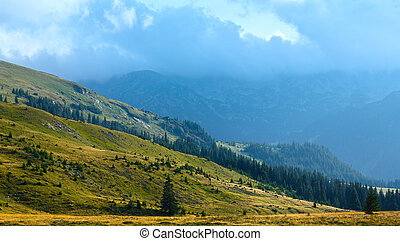 Summer Transalpina road (Carpathians,  Romania).