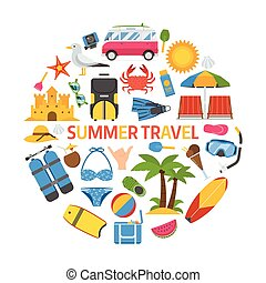 Summer Travel Concept