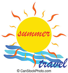 summer travel icon vector illustration