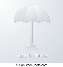 Summer Travel Paper Umbrella flat vector icon