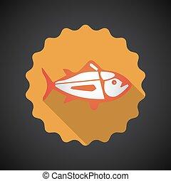 Summer Travel Sea Fish flat vector icon