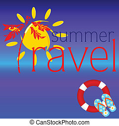 summer travel sign vector illustration