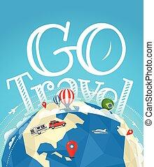 Summer travel vector illustration. Go travel concept