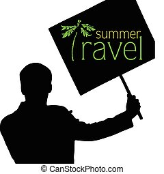 summer travel vector illustration