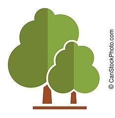 summer tree icon for parkland or garden symbol