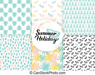 Summer Trendy Seamless Patterns
