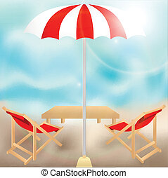 Summer tropical background on beach - Relaxing scene on a...