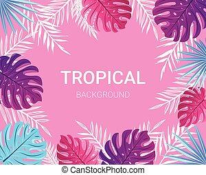 Summer tropical design for banner, poster, card.
