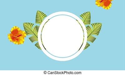 summer tropical template - falling yellow flower tropical...