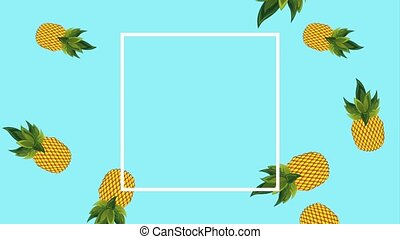 summer tropical template - pineapple fresh fruit tropical...