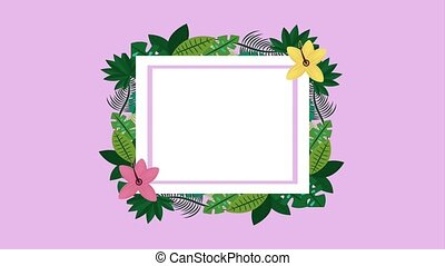 summer tropical template - summer tropical flowers leaves...