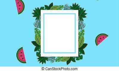 summer tropical template - summer tropical watermelon plants...
