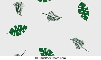 summer tropical template - tropical exotic jungle foliage...