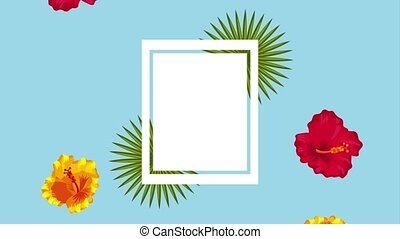 summer tropical template - tropical frame template...