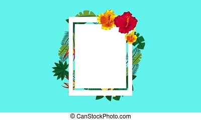 summer tropical template - tropical template banner on...