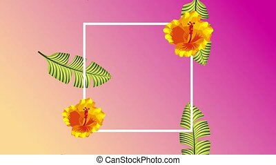 summer tropical template - tropical template frame...