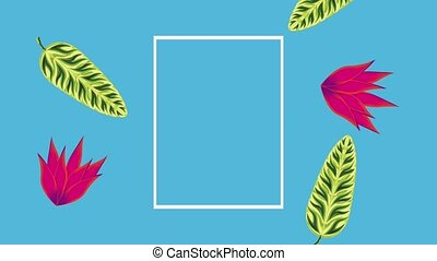 summer tropical template - tropical template frames with...