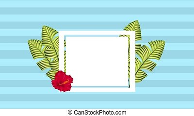 summer tropical template - tropical template label red...