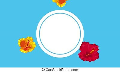 summer tropical template - tropical template red and yellow...