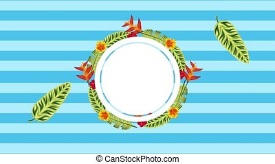 summer tropical template - tropical wreath bird of paradise...