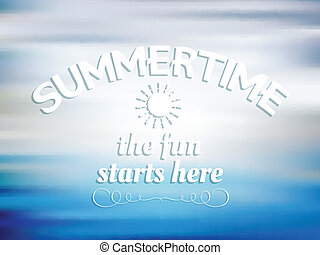 Summer type background
