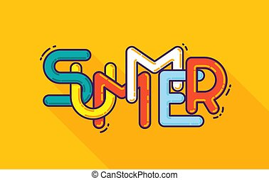 1c155c10 Summer typography. Template for font composition. Hello, party, holidays,  adventure,