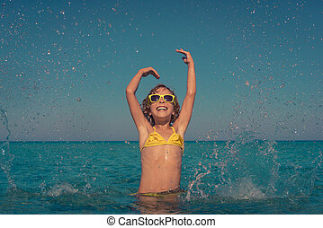 Summer vacation and active lifestyle concept