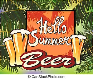 Summer vacation and travel design, beer.