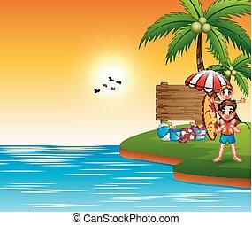 Summer vacation at the sea